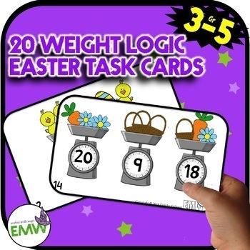 Bundle All Easter Math Activities - Coordinates and Logic Task Cards