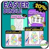 Bundle All Easter Math Activities - Coordinates and Logic