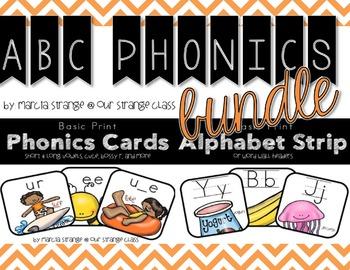 Bundle: Alpabet Strip & Phonics Cards in Print