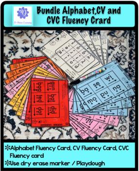Bundle Alphabet, CV and CVC Fluency Card