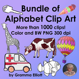 Alphabet Clip Art Bundle 1100 Clips Semi Realistic Color a