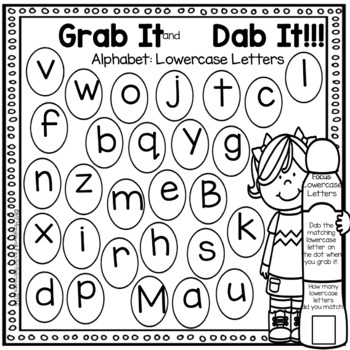 Bundle: Alphabet Grab It and Dab It Series