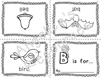 Alphabet Bundle:  Foldable Alphabet Word Mini Books and Interactive Mini Books