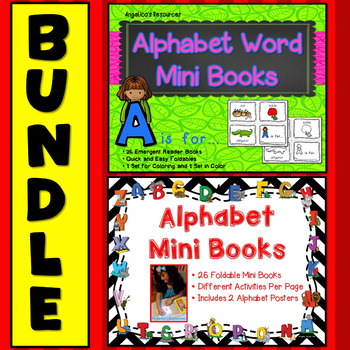 Alphabet Bundle:  Foldable Alphabet Word Mini Books and In