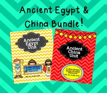 Bundle- Ancient Egypt & China Units
