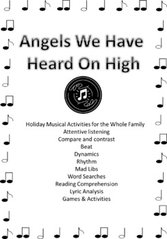 Bundle Angels We Have Heard on High - printables & video of activities