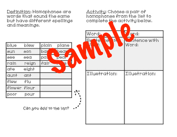 Antonym, Synonym, and Homophone Posters and Interactive Booklets