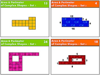 Bundle: Area & Perimeter of Complex Shapes {Math Task Cards}