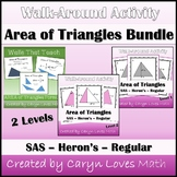 Bundle: Area of Triangles - HS Geometry - Activities & Walls that Teach Posters