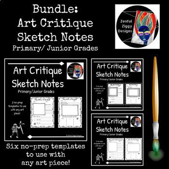 Bundle: Art Critique Sketch Notes #1-3 (Primary/Junior)
