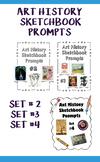 Bundle:  Art History Sketchbook Prompts:  Sets #2, #3 and #4