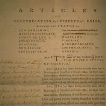 Bundle of 2 - Establishing the US Government - Articles of Confederation