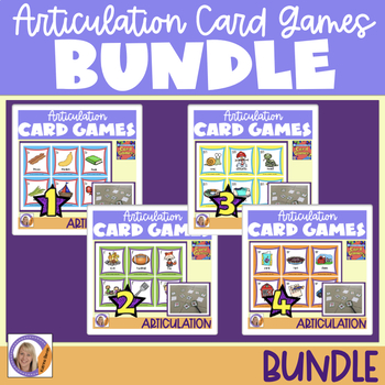 Articulation Card Games Bundle for speech and language therapy