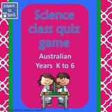 Bundle Australian Science Quiz Game K-6