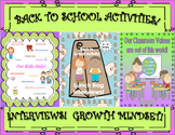 Bundle Back to School Activities!   For Kids Only!  Early Finishers!  Centers!