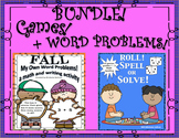 Bundle! Back to School Fall Word problems and Fun Games for Review! Grades 1 - 2