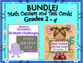 Bundle Back to School Math Centers and Task Cards! Common Core Grades 2 - 4