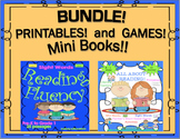 Bundle Reading Comprehension passages and questions Mini Books Games Sight Words