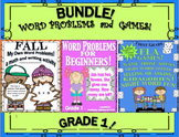 Bundle Back to School Word Problems and ELA Games!  Grade 1