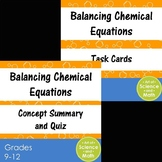 Bundle - Balancing Chemical Equations and Task Cards - Hig