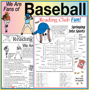 Bundle: Baseball and Spring Sports Two-Page Activity Set a