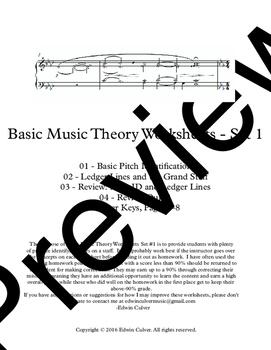 Bundle* Basic Music Theory Worksheets Sets 1-3