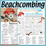 Beachcombing and Seashore Two-Page Activity Set and Crossword Puzzle