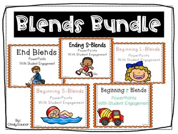 Bundle, Beginning and Ending Blends, PowerPoints plus Printables