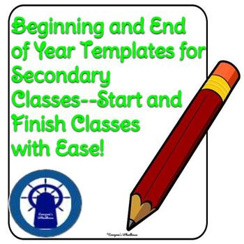 Bundle: Beginning of the Year Goal-Setting & End of Year Reflection Templates