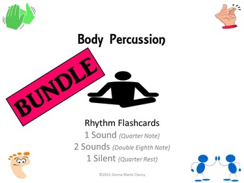 Bundle: Body Percussion Performance Flashcards