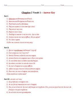 bon voyage level 1 answer key