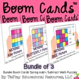 Bundle Boom Cards Spring Addition and Subtraction within 1