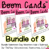Bundle Boom Cards Valentine's Day Add Subtract Monsters Di