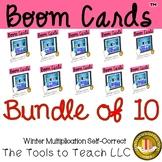 Bundle Boom Cards Winter Math Multiplication Facts Distanc