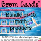 Bundle Boom Cards Winter Math Multiplication Facts Distanc
