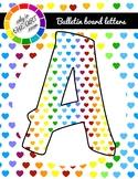 Bundle 2 sets  Bulletin Board Letters Heart Patterns