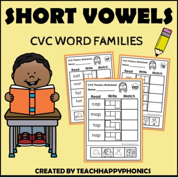 Bundle CVC Word Families Worksheets