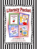 Literacy Packet --  CVC Word-Picture Match (22 Worksheets)