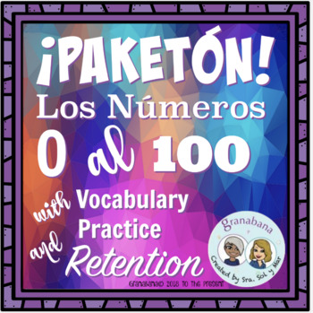 Bundle! Carrusel: De Marcha con los # 0 al 100 + Vocabulary Retention Activity