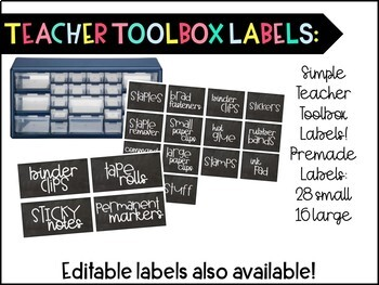 Classroom Labels, Behavior Clip Chart and More!! Chalkboard-themed