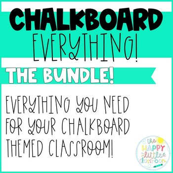 Bundle - Chalkboard Everything! Organization and Management Pack!