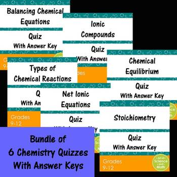 Bundle Chemistry Quizzes