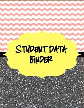 *Bundle* Chevron & Glitter Student Data/Organization & Substitute Binder