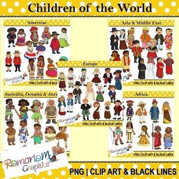 Children of the World clip art Bundle