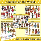 Children of the World clip art Bundle