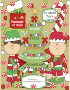 Bundle Christmas December Math Word problems and ELA printables Task cards