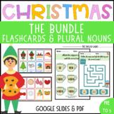 Christmas Regular Plural Nouns and Flashcards BUNDLE