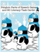 Bundle Christmas Winter Penguin grammar game! Math Challenges early finishers