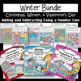 Bundle: Christmas, Winter, & Valentine's Day Color by Code