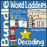Bundle Christmas Word Ladders and Decoding Puzzle/Riddles